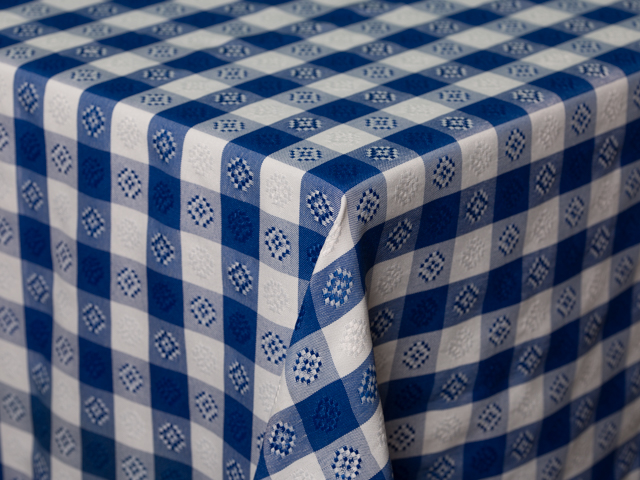 Where to find BLUE WHITE CHECK LINEN in Seattle