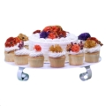 Rental store for CAKE STAND ROUND WHITE 20 in Seattle WA